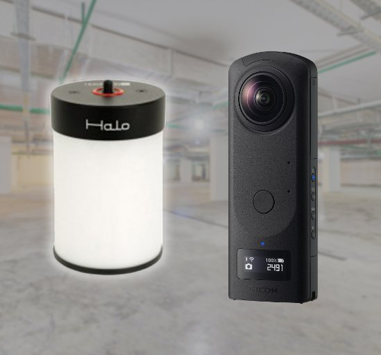 HoloBuilder JobWalk app + Bushman HALO 360 light for optimal 360 capturing in all light conditions